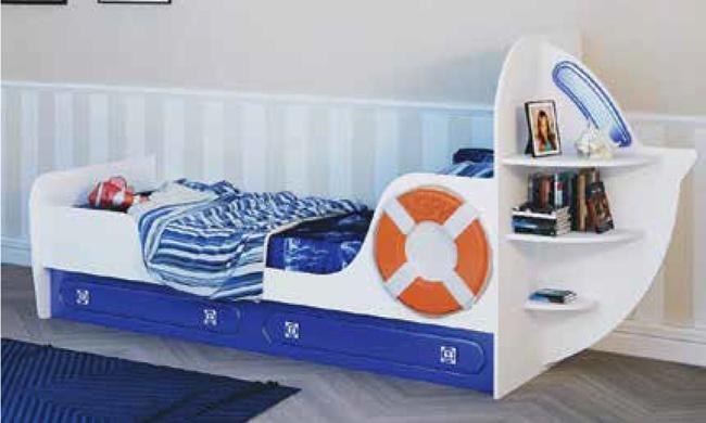 Кровать Яхта-1 одноярусная Парус