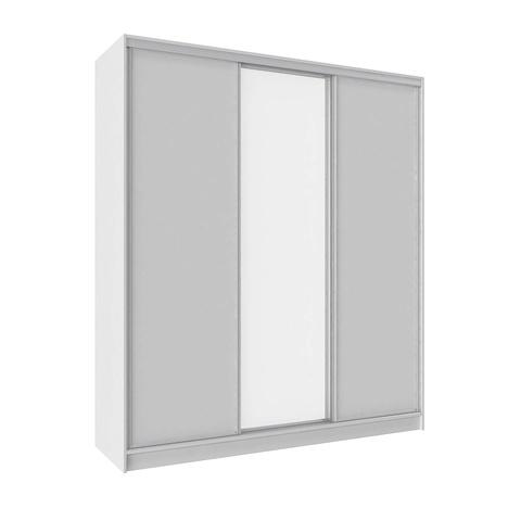 Шкаф-купе Домашний с зеркалом 2000 белый