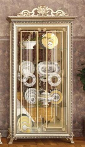 Шкаф 2-дверный Версаль ГВ-02 слоновая кость