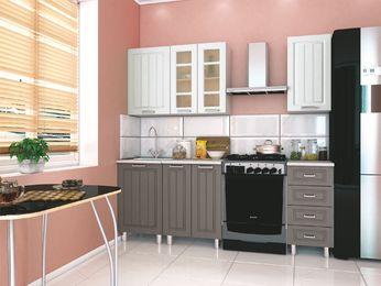 Кухня модульная Луксор серый-белый