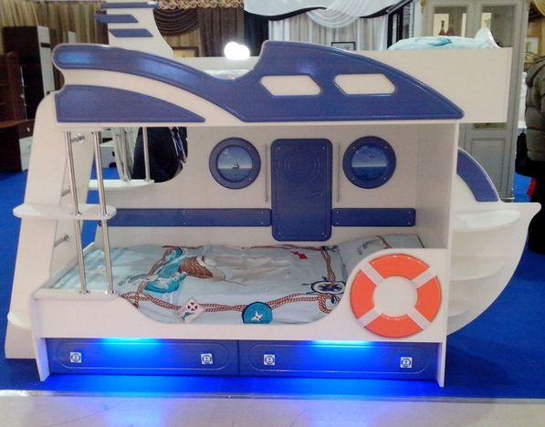 Кровать Яхта-2 двухъярусная Парус