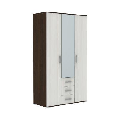 Шкаф 3-х дверный Тифани венге/бодега белая