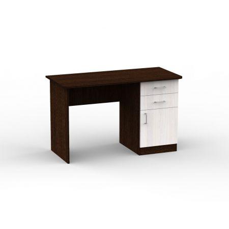 Стол компьютерный 1Т венге/анкор белый